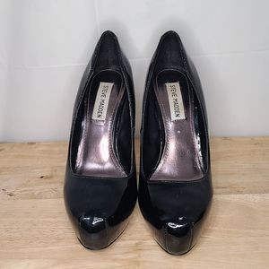 Steve Madden Platform Patent Leather Pumps
